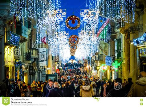 city decorations in valletta malta decoration on the