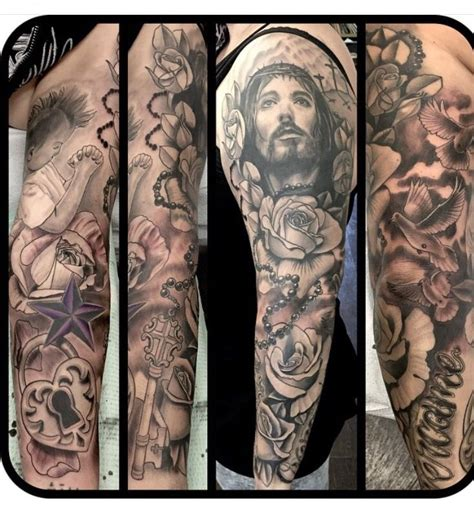 tattoo jesus no antebraço my sleeve jesus christian tattoo ink pinterest