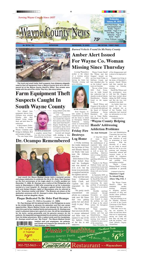 wayne county section 8 wayne county news 01 20 10 by chester county independent
