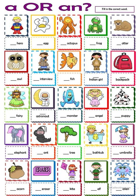 Or Printables A Or An Worksheet Free Esl Printable Worksheets Made By Teachers