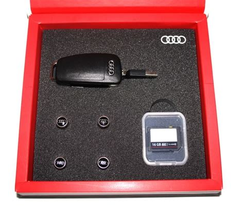 Audi Accessories Germany by Audi Accessories Collection Gift Set Usb Sd Valve Caps