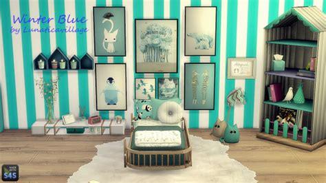 lunaticavillage sis lv winter blue toddlers bedroom
