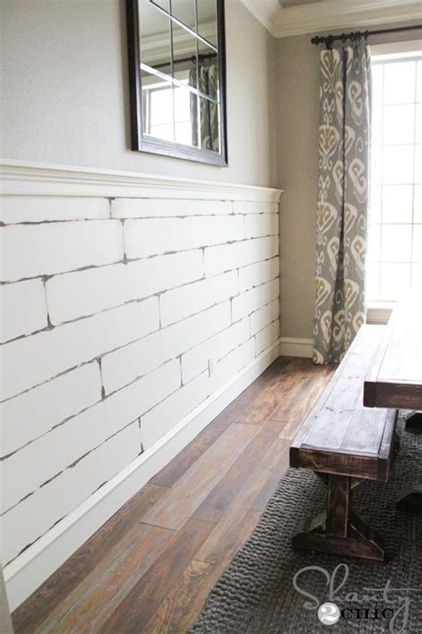 Shiplap Walls Home Depot Diy Distressed Plank Wall Furniture Instagram And