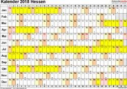 Kalender 2018 Zum Ausdrucken Ferien Hessen Kalender 2018 Hessen Ferien Feiertage Excel Vorlagen