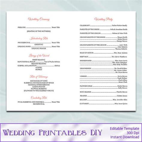 catholic wedding mass booklet template program template wedding program templates and wedding on