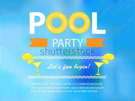 pool party invitation templates psd ai word