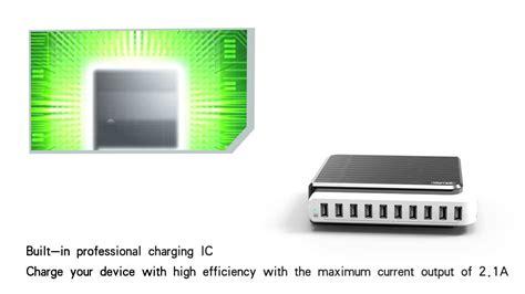 Unitek Y2155 10 Port Smart Charging Station unitek usb 10 port 2 1a smart charging station y 2155