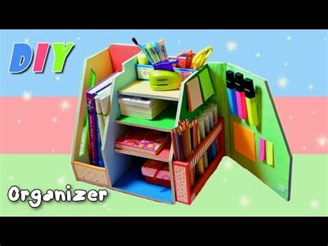 diy desk organizers diy organizer desk cardboard back to school made