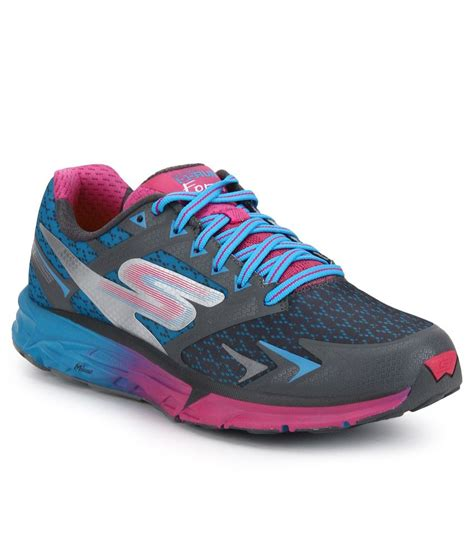 skechers multi color shoes skechers go run forza multi color sports shoes price in