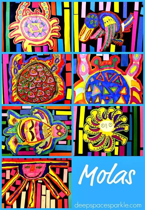 echo pattern in spanish paper cut molas elementary spanish galleries and spanish