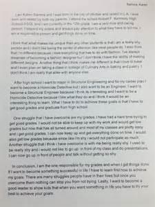 asgl senior portfolio brag sheet personal statement
