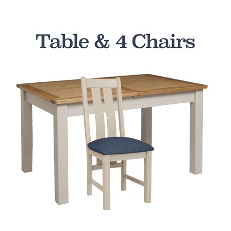 portland table and chairs portland oak painted dining table 4 chairs package