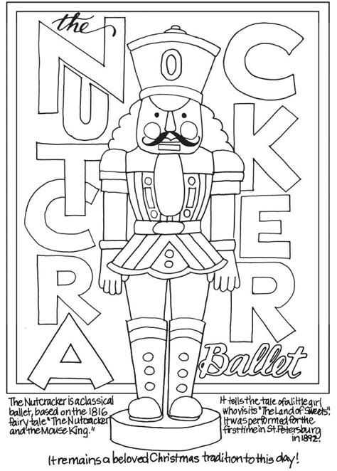 christmas coloring pages nutcracker crafts patterns diy and handmade ideas from craftgossip