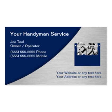handyman business card template 32 of all trades business cards and of all