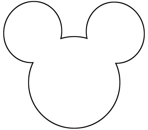 mickey template free printable mickey mouse silhouette search