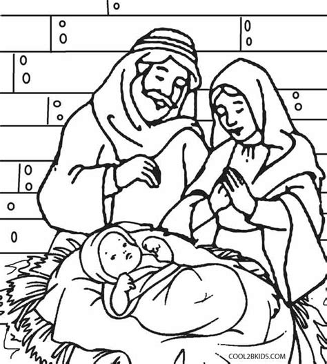 christmas coloring pages of nativity scene printable nativity scene coloring pages for kids