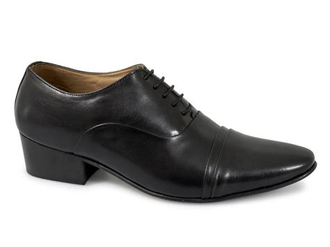 lucini mens leather lace up cuban heel shoes black buy
