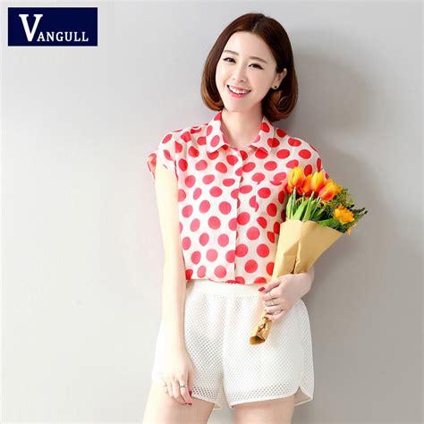 Bigsize Blouse Sb002 chiffon blouse shirts polka dot blouse blusas big size blusas clothing o neck