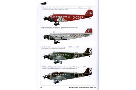 libro ju 52 3m bomber and world war ii combat aircraft photo archive n 186 1 junkers ju 52 3m alca 241 iz fresnos s a