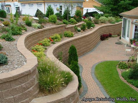 Garden Walls Ideas Retaining Wall Ideas Agape Retaining Walls Inc Built