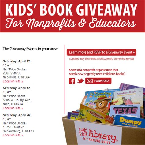 Book Giveaways For Teachers - half price books kids books giveaway a savings wow