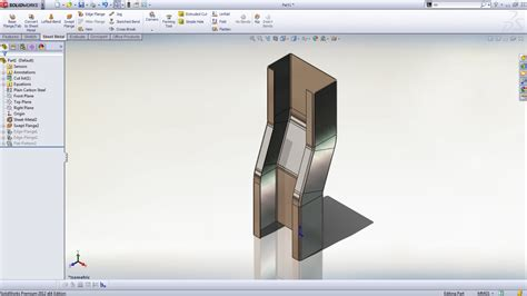 multibody sheet metal parts peter cad solidworks 2012 features and tools to speed the design