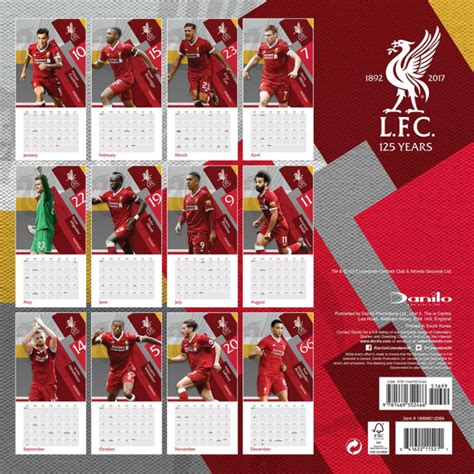 liverpool official 2017 calendar 1785492209 the months of january february and march on liverpool s 2018 calendar are just unlucky sportbible