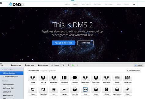 drag drop design pagelines dms 2 demo dms 2 for wordpress pagelines dms demo