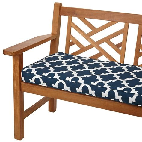 60 inch outdoor bench cushion scalloped navy 60 inch indoor outdoor corded bench cushion