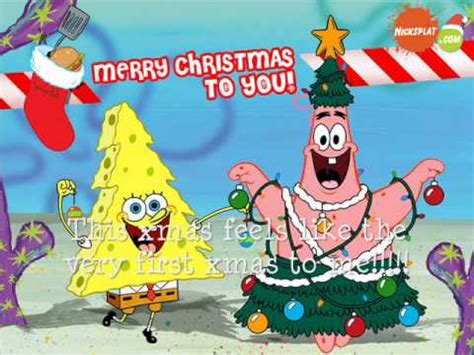 spongebob christmas song spongebob s quot quot song with lyrics best version