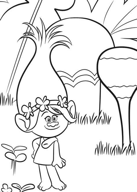 imagenes para pintar trolls trolls 2016 para pintar dibujos para imprimir y colorear