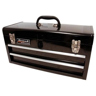 homak 20 in tool box black bk01022001 the home depot