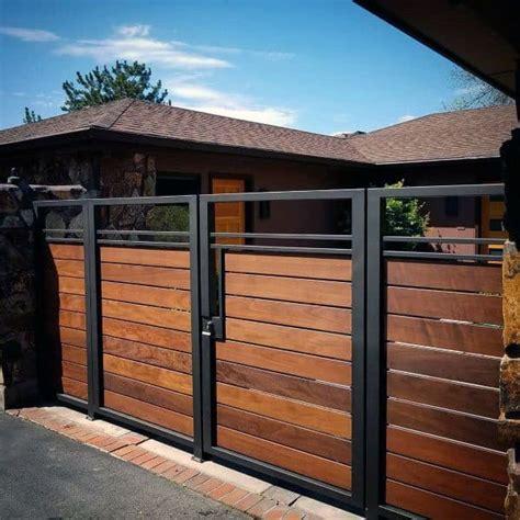 top   wooden gate ideas front side  backyard