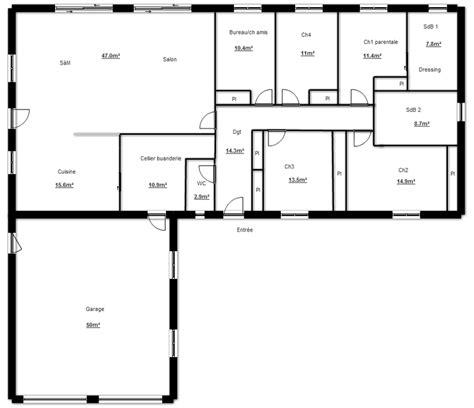 Plan Maison 90m2 Plain Pied 4345 by Plan De Maison Plain Pied En L Plan Plein Pied Maison En