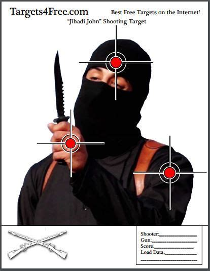 printable terrorist targets 52 best free printable shooting targets images on