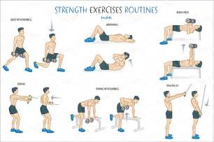 Ghost Desk Chair Strength Exercise Routine Illustrations On Creative Market