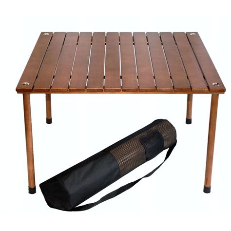 Solid Wood Folding Table Outdoor Portable Folding Table With Carry Bag With Solid Wood Top Folding Tables Solid Wood