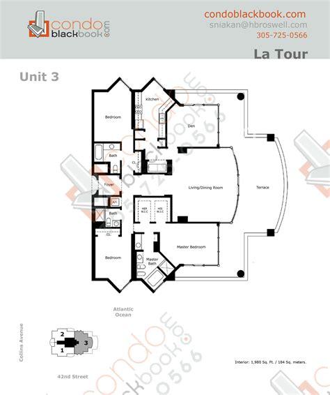 floor plan la la tour unit 2203 condo for sale in mid beach miami