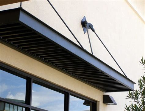 steel window awnings small flat window awning with overhead support sts
