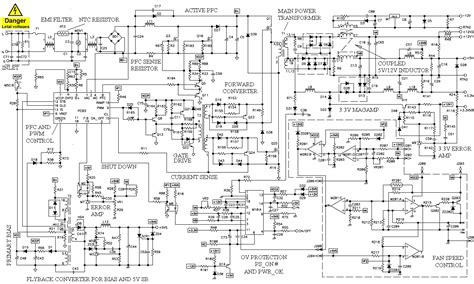 Power Supply Atx 500w Powerup computer power supply schematic and operation theory