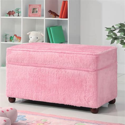 fabric storage benches dreamfurniture com storage bench in fuzzy pink fabric by