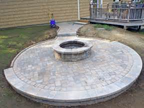 Backyard Ideas With Fire Pits Paver Patio Photos Groundhog Landscaping