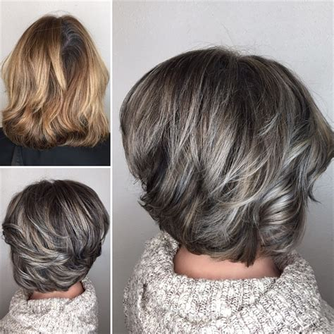 using highlights to blend gray lowlights to blend gray hair blending gray hair with