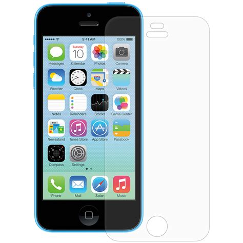 iphone 5c screen protector amzer 174 clear screen protector
