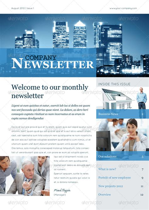 business newsletter template business newsletter vol ii by corrella graphicriver