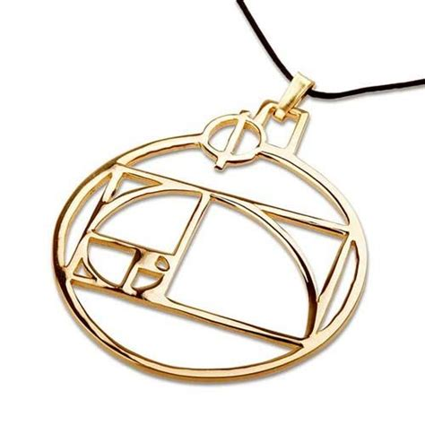 Golden Ratio Necklace phi pendant gold the golden ratio accoutrement