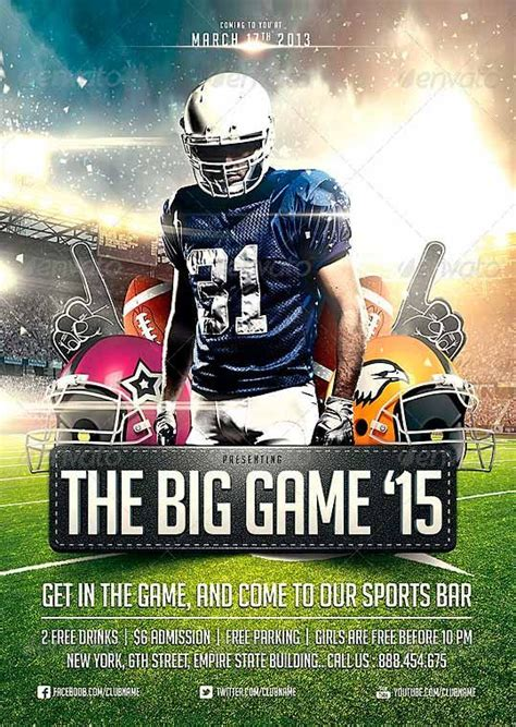 Football C Flyer Template big football flyer template http www ffflyer