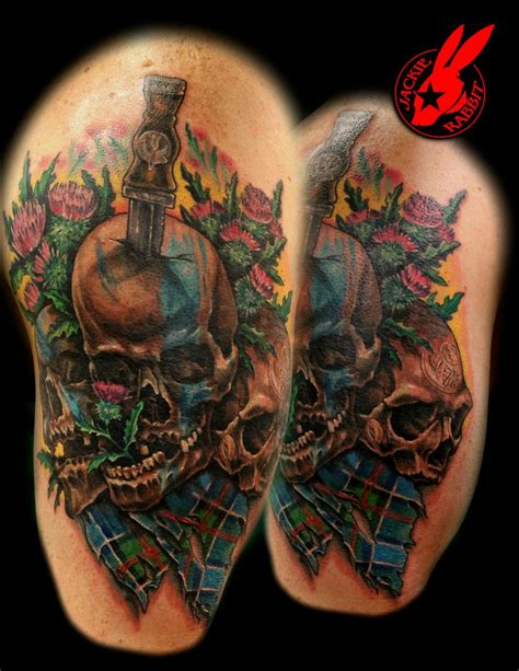 braveheart tattoo designs scottish skulls and tartan tattoo by jackie rabbit by