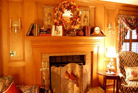 decorate pictures decorate a fireplace mantel for fall or autumn with books