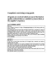 Complaint Letter About Catering Service Sle Complaint Letter 10sle Complaint Letter Write A Complaint Letter To The Manager Of